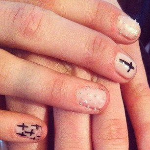 Epic nail art from our Cross Your Heart collection: Hair Beautiful, Heart Nails, Nails Art, Heart Collection, Crosses Nails, Hair Makeup Nails, Hair Nails, Crosses On Nails, Epic Nails