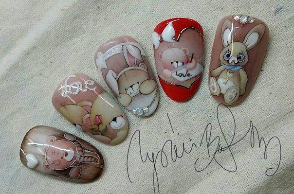картинки мишек тедди на ногтях этой странице