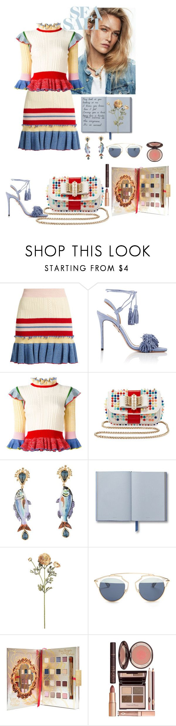"""""""Sea Salt"""" by antisocial-crybaby ❤ liked on Polyvore featuring Alexander McQueen, Aquazzura, Christian Louboutin, Dolce&Gabbana, Christian Dior, Disney and Charlotte Tilbury"""