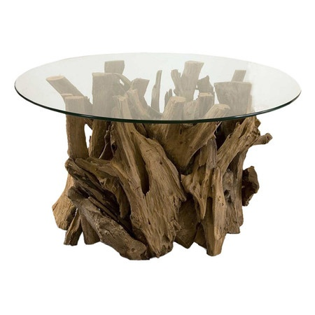 I think that this drift wood coffee table would look amazing in a beach house with various sea decor on top.