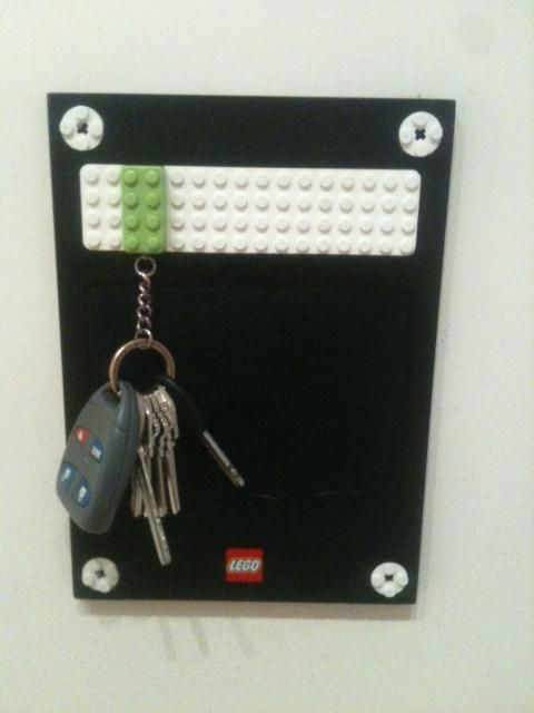 Your keychain has a lego on it.. snap it into place and no more lost keys!! Clever! @Lynn H