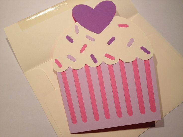 Cupcake Birthday Invitations and Envelopes - Cupcake Theme Birthday Party. $20.00, via Etsy.