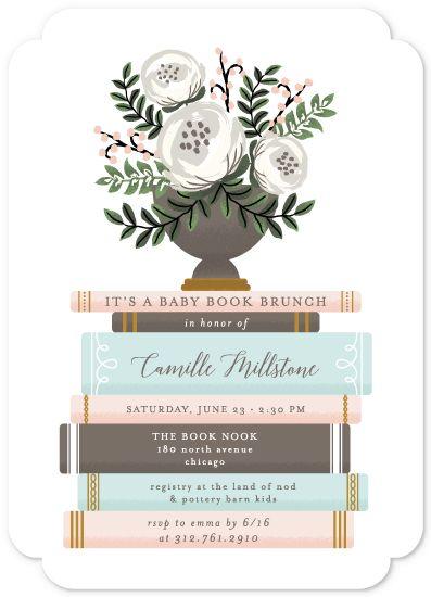 baby shower invitations - Storybook Stack by Lehan Veenker
