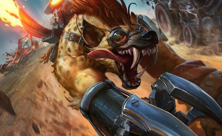 ArtStation - Hyena Warwick for Riot Games, Izzy Medrano