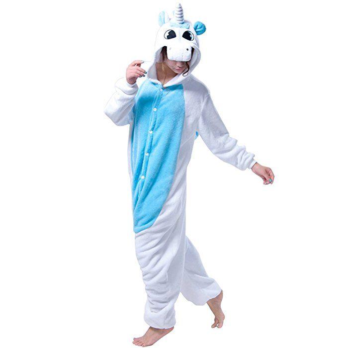 #Einhorn #Kostüm Erwachsene #Tier Jumpsuits Onesie Pyjama Nachthemd Nachtwäsche Cosplay Overall Hausanzug #Fastnachtskostuem #Karnevalskostüme #Faschingskostüm Kapuzenkostüm (XL: Für Ihre Höhe :181 - 190cm, Hellblau): Amazon.de: #Bekleidung (Werbelink)