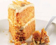 Orange Ginger Carrot Cake with White Chocolate Icing. Very tasty and fancy.