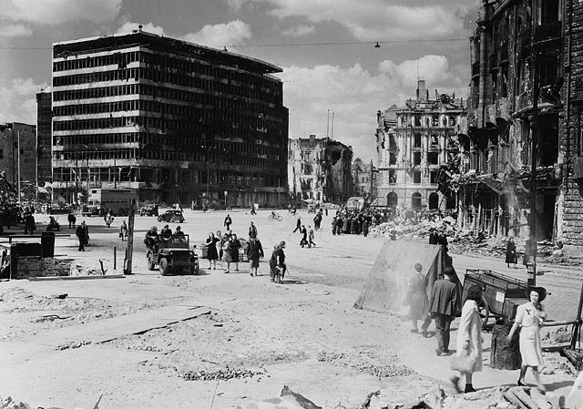 Potsdamer Platz, Berlin, Germany, 9 July 1945. Lieut. Michael M. Dean / Canada. Dept. of National Defence / Library and Archives Canada / PA-140126.