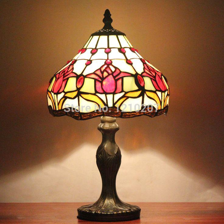 Дешевое 8 дюймов тиффани настольная лампа с витражи для настольная лампа размер 20 см в ширину 31 см высокого S030B08T, Купить Качество Настольные лампы непосредственно из китайских фирмах-поставщиках:   8 дюймов Тиффани настольная лампа с витражей настольная лампа Размер 20 см широкий 31 см высокой S030B08T