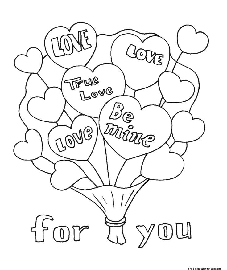 Free Printable valentines bouquet flowers coloring pages ...