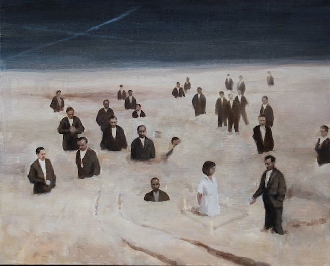 """Peter Martensen, The Crooners 2, 2014, Oil on Canvas, 16½"""" x 20½"""" #Art #Contemporary #Painting #BDG #BDGNY #MentalRealism #Figurative"""