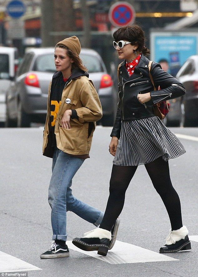 Out and about: Kristen Stewart andSoKo were seenenjoying another afternoon outing in Par...