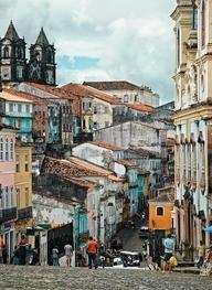 The colours of Brazil, our homeland. This is Largo do Pelourinho - Salvador, Brazil.   www.melko.com.au