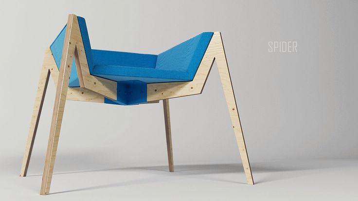 Spider chair by Sergei Kotsepup