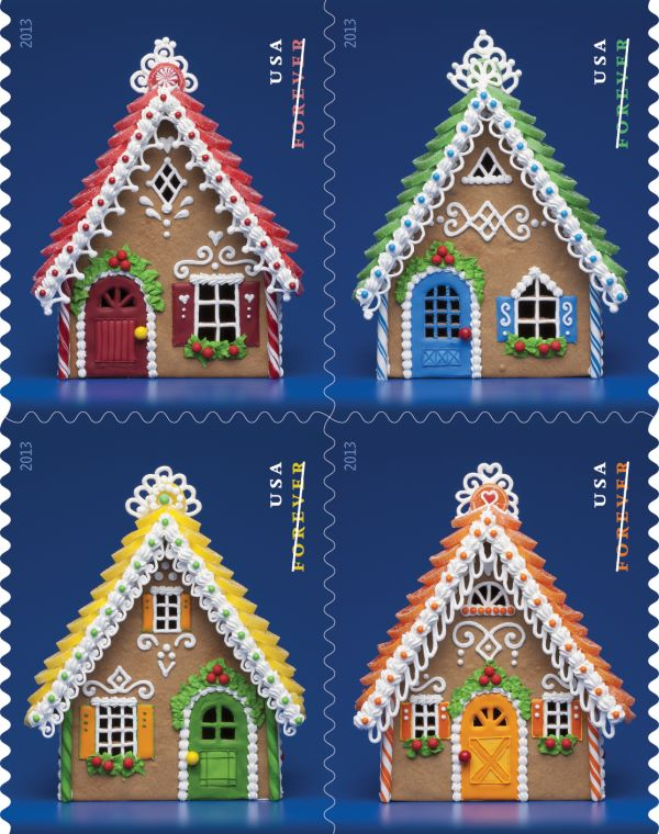 gingerbread houses | 2013 USPS Stamps