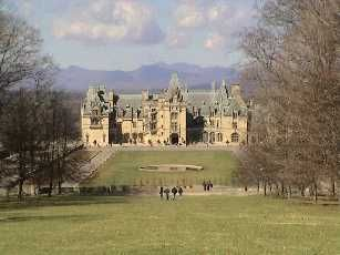 The Biltmore Estate in Asheville.  Ate lunch in the renovated barn and who should walk in but hub's cousin and wife!  We were both visiting from Michigan and had no idea the other was traveling there too.  Small world is right!