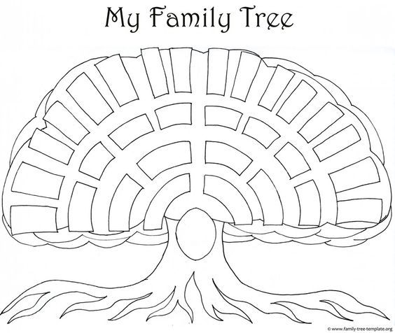 a printable blank family tree to make your kids genealogy chart az coloring pages