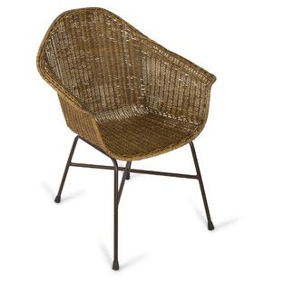 Brown Wash Mazza Rattan Armchair