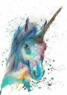 Watercolor Unicorn Unicorns In 2019 Unicorn Unicorn