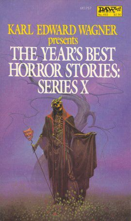 MICHAEL WHELAN - art for The Year's Best Horror Stories X edited by Karl Edward Wagner - 1982 DAW Books