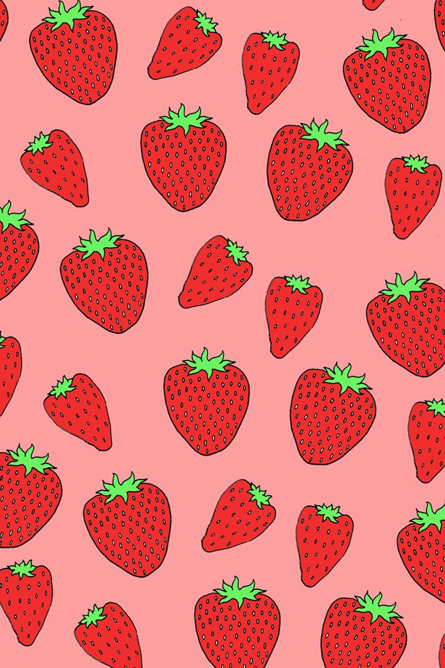 Fruit Quotes Wallpaper Strawberry Pattern Download More Fruity Iphone