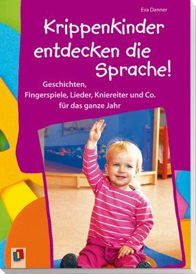 Krippenkinder entdecken die Sprache – Geschichten, Fingerspiele, Lieder, Kniereiter und Co. für das ganze Jahr ++ ! Kleine, ganzheitliche Sprachförderprojekte zu 10 Lieblingsthemen der Kleinen sorgen im #Krippenalltag für Sprachförderspaß mit allen Sinnen. Die inspirierenden Fotos aus der Praxis zeigen, wie einfach Sprachförderung mit den #Kleinsten gelingen kann und dass #Krippenkinder viel Freude an den Projekten haben. #Krippe #Sprachförderung