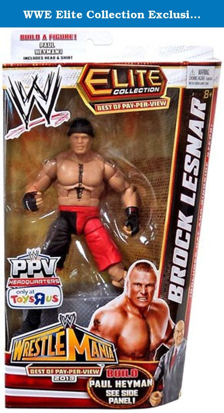WWE Elite Collection Exclusive Best of Pay-Per-View 2013 Brock Lesnar Figure (Build Paul Heyman). The best of the WWE Pay-Per-View Elite collection features highly detailed action figures with authentic ring attire from some of the best Pay-Per-View matches in history! Figures offer more than 20 points of articulation with authentic detail and gear like masks, jackets and costumes from the famed events.