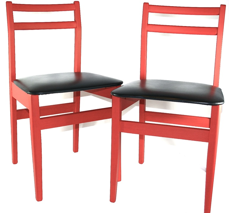 upcycled 60s chairs 4 for £100