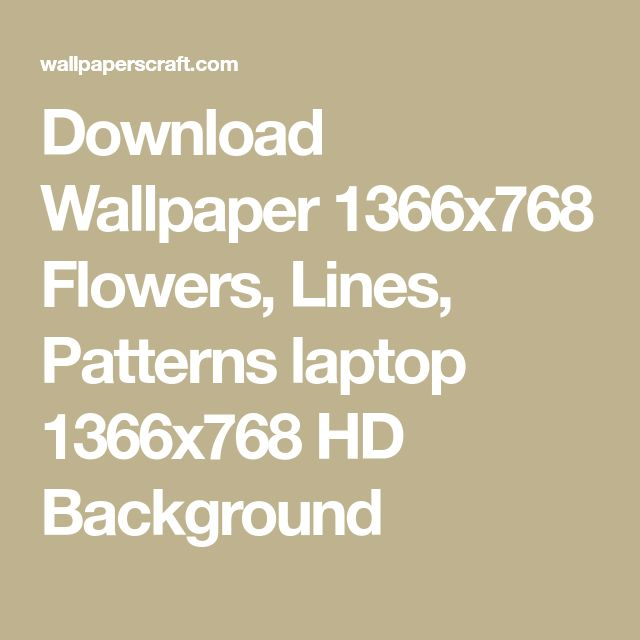 Download Wallpaper 1366x768 Flowers, Lines, Patterns laptop 1366x768 HD Background