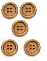 Natural Wooden Heart Buttons