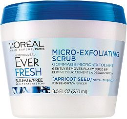 Loreal Ever Fresh Micro-Exfoliating Scrub for hair to promote a healthy scalp. (First, a clay hair mask, now a hair scrub?! Kind of exciting territory.)