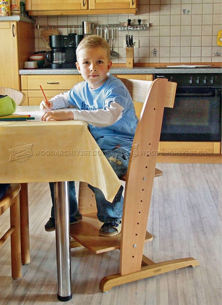 #2749 Wooden High Chair Plans - Children's Furniture Plans