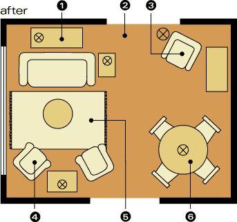 Arranging furniture furniture and helpful hints on pinterest for Website to help arrange furniture