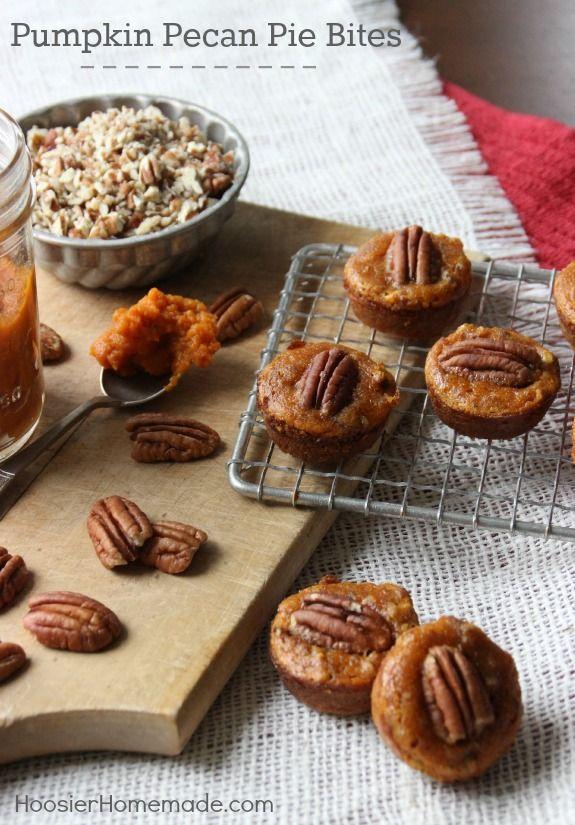Pumpkin Pecan Pie Bites | Recipe | Pumpkin pecan pie ...
