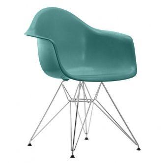 VITRA židle DAR azurová