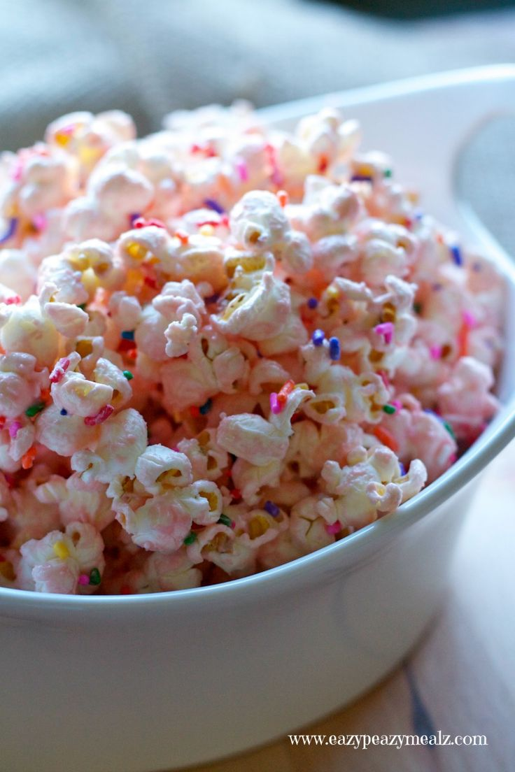 Prinzessinen Geburtstag buntes Popcorn selber machen *** princess popcorn for princess in training party