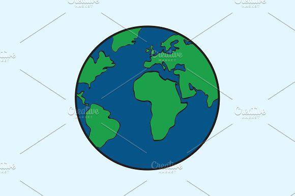 Illustration Vector of Globe Icon by charnsitr on @creativemarket
