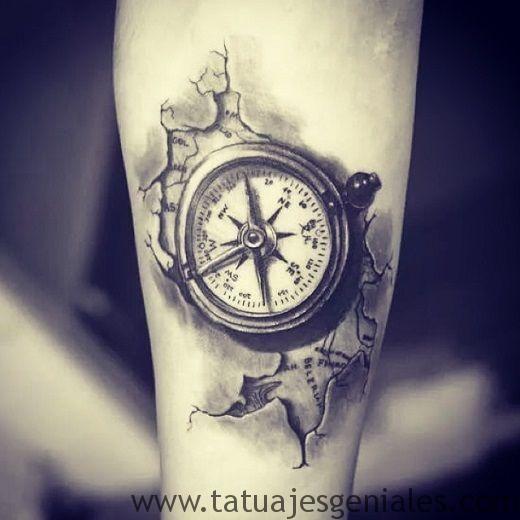 60 Tatuajes de Brújulas   Significados e Imágenes