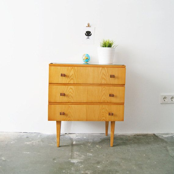 50er Jahre Nachttisch, Kommode, Sideboard, Mid Century Furniture