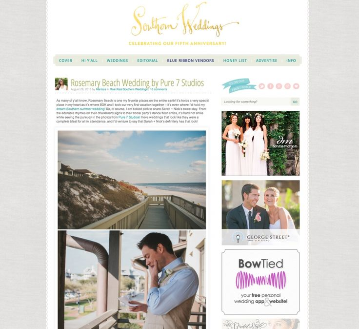 Southern Weddings Blog Rosemary Beach Wedding Planners Its A Shore Thing Planning Celestines