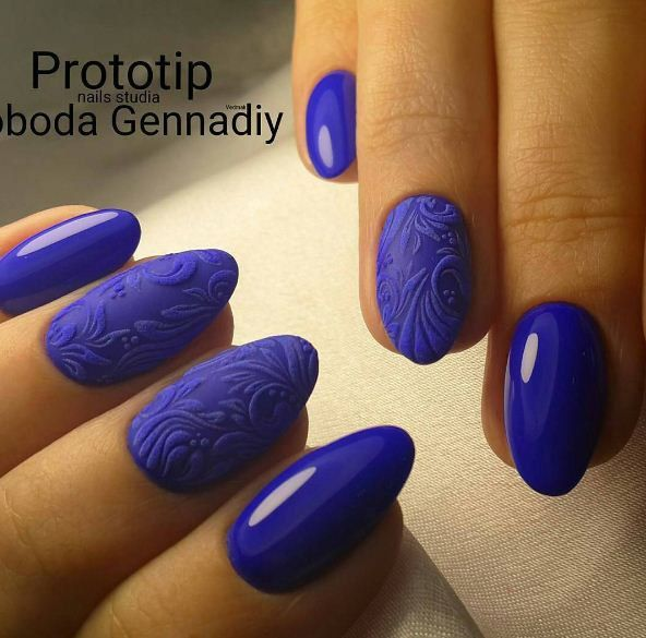 262 best Acrylic and gel nail art in blue colour - unhas em tons de ...