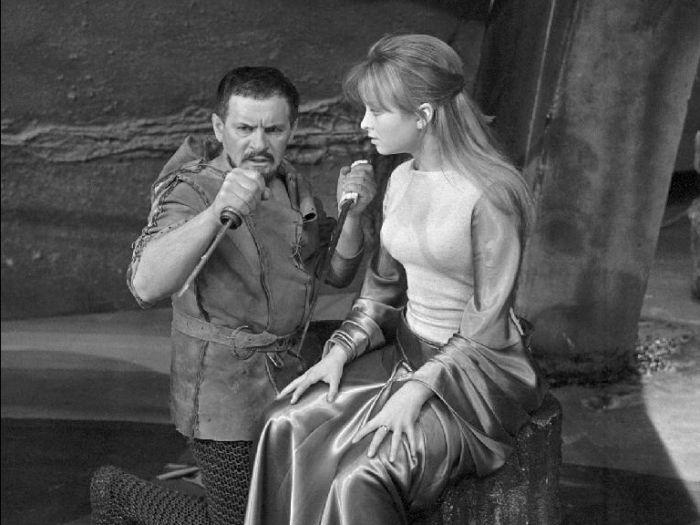Tadeusz Łomnicki i Magdalena Zawadzka /  Makbet/  reż. A. Wajda/ 1969r.