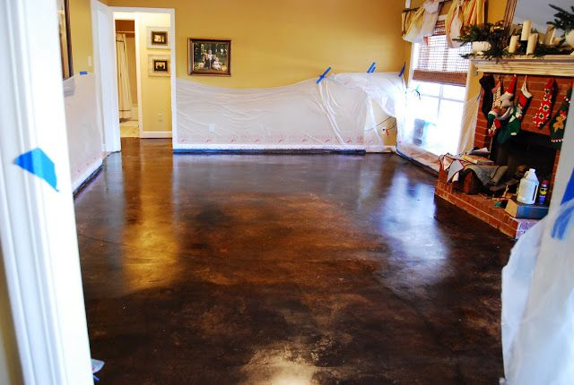 17 Best Images About Stained Or Painted Concrete Floors On