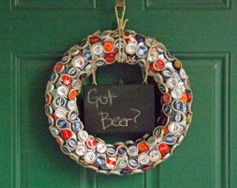 Bottle Cap Wreath