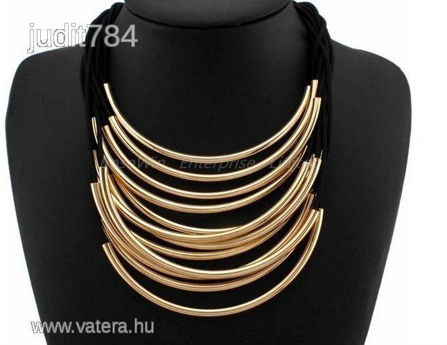 Divatos nyaklánc Női - 3990 Ft - Nézd meg Te is Vaterán - Aranyozott nyaklánc - http://www.vatera.hu/item/view/?cod=1870478885