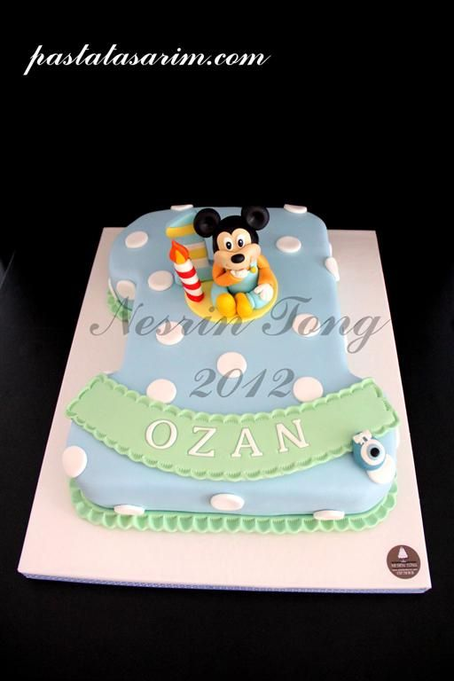mickey mouse first birthday cake | baby mickey mouse cake