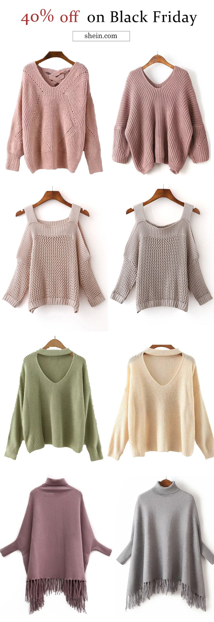 Cozy sweater collect for fall/winter. Free shipping & 40% off for Black Friday!