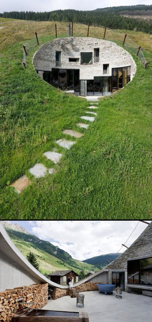 This is a cool house simply inspirational by living space pinterest - The subterranean house fighting small spaces ...