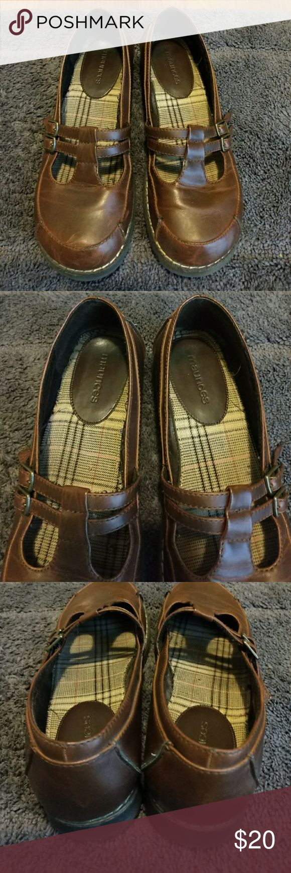 Maurices Mary Janes Maurices Mary Janes they are very comfortable and in great condition, I  just don't wear them anymore there really cute with jeans Maurices Shoes Flats & Loafers