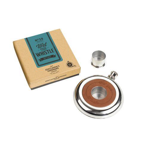 Gentlemen's Hardware 'Wet Your Whistle' Hip Flask - Cadeaux.ie €29.95