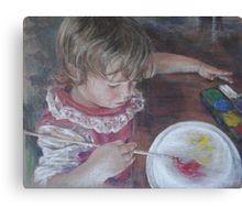 "Pastel portrait ""Little Artist"". Canvas Print and more available."